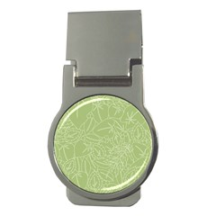 Blender Greenery Leaf Green Money Clips (round)  by Mariart