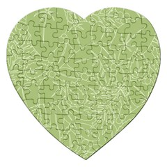 Blender Greenery Leaf Green Jigsaw Puzzle (heart) by Mariart