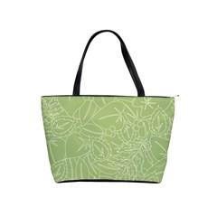 Blender Greenery Leaf Green Shoulder Handbags by Mariart