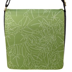 Blender Greenery Leaf Green Flap Messenger Bag (s) by Mariart