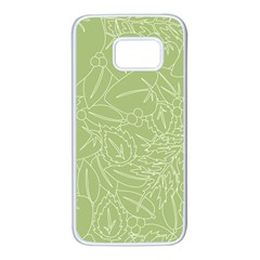 Blender Greenery Leaf Green Samsung Galaxy S7 White Seamless Case by Mariart
