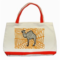 Animals Camel Animals Deserts Yellow Classic Tote Bag (red) by Mariart
