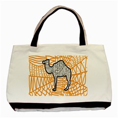 Animals Camel Animals Deserts Yellow Basic Tote Bag (two Sides) by Mariart