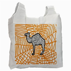 Animals Camel Animals Deserts Yellow Recycle Bag (two Side)  by Mariart