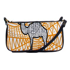 Animals Camel Animals Deserts Yellow Shoulder Clutch Bags by Mariart