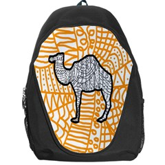 Animals Camel Animals Deserts Yellow Backpack Bag by Mariart