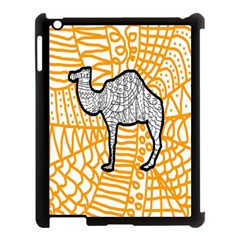 Animals Camel Animals Deserts Yellow Apple Ipad 3/4 Case (black) by Mariart