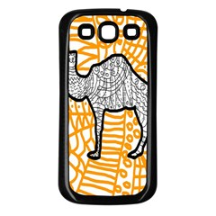 Animals Camel Animals Deserts Yellow Samsung Galaxy S3 Back Case (black) by Mariart