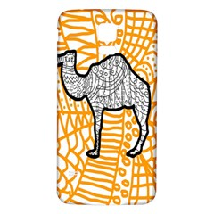 Animals Camel Animals Deserts Yellow Samsung Galaxy S5 Back Case (white) by Mariart