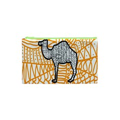 Animals Camel Animals Deserts Yellow Cosmetic Bag (xs) by Mariart