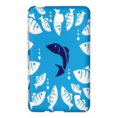 Blue Fish Tuna Sea Beach Swim White Predator Water Samsung Galaxy Tab 4 (8 ) Hardshell Case  by Mariart
