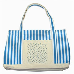 Bubble Balloon Circle Polka Blue Striped Blue Tote Bag by Mariart