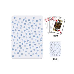 Bubble Balloon Circle Polka Blue Playing Cards (mini)  by Mariart