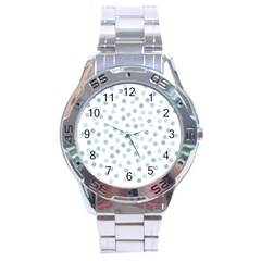 Bubble Balloon Circle Polka Blue Stainless Steel Analogue Watch by Mariart