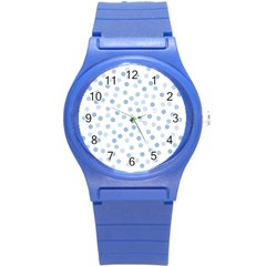 Bubble Balloon Circle Polka Blue Round Plastic Sport Watch (s) by Mariart