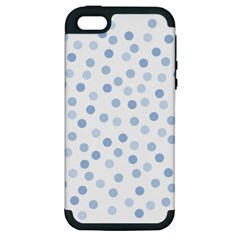 Bubble Balloon Circle Polka Blue Apple Iphone 5 Hardshell Case (pc+silicone) by Mariart
