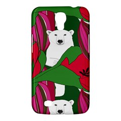 Animals White Bear Flower Floral Red Green Samsung Galaxy Mega 6 3  I9200 Hardshell Case by Mariart