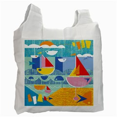 Boats Ship Sea Beach Recycle Bag (one Side) by Mariart