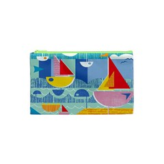 Boats Ship Sea Beach Cosmetic Bag (xs) by Mariart