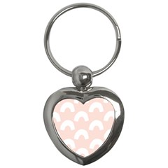 Donut Rainbows Beans Pink Key Chains (heart)  by Mariart