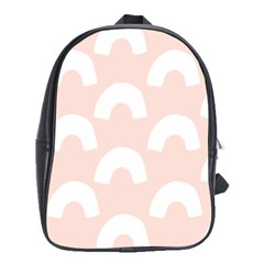 Donut Rainbows Beans Pink School Bags(large)  by Mariart