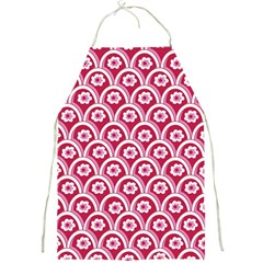 Botanical Gardens Sunflower Red White Circle Full Print Aprons by Mariart