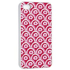 Botanical Gardens Sunflower Red White Circle Apple Iphone 4/4s Seamless Case (white) by Mariart