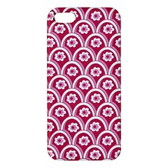Botanical Gardens Sunflower Red White Circle Apple Iphone 5 Premium Hardshell Case by Mariart