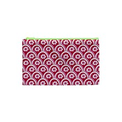 Botanical Gardens Sunflower Red White Circle Cosmetic Bag (xs) by Mariart