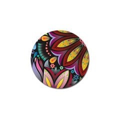 Flower Floral Sunflower Rose Color Rainbow Circle Polka Golf Ball Marker (4 Pack) by Mariart