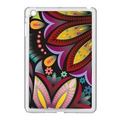 Flower Floral Sunflower Rose Color Rainbow Circle Polka Apple Ipad Mini Case (white) by Mariart