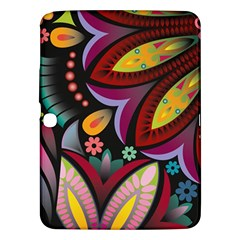 Flower Floral Sunflower Rose Color Rainbow Circle Polka Samsung Galaxy Tab 3 (10 1 ) P5200 Hardshell Case  by Mariart