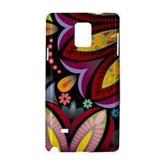 Flower Floral Sunflower Rose Color Rainbow Circle Polka Samsung Galaxy Note 4 Hardshell Case by Mariart