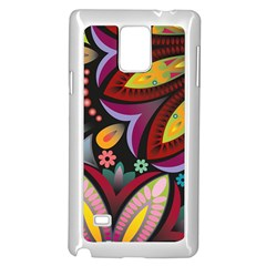 Flower Floral Sunflower Rose Color Rainbow Circle Polka Samsung Galaxy Note 4 Case (white) by Mariart