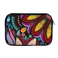 Flower Floral Sunflower Rose Color Rainbow Circle Polka Apple Macbook Pro 17  Zipper Case by Mariart