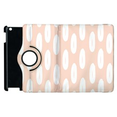 Donut Rainbows Beans White Pink Food Apple Ipad 3/4 Flip 360 Case by Mariart