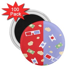 Glasses Red Blue Green Cloud Line Cart 2 25  Magnets (100 Pack)  by Mariart