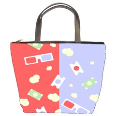 Glasses Red Blue Green Cloud Line Cart Bucket Bags by Mariart