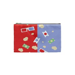 Glasses Red Blue Green Cloud Line Cart Cosmetic Bag (small)  by Mariart