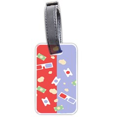 Glasses Red Blue Green Cloud Line Cart Luggage Tags (two Sides) by Mariart