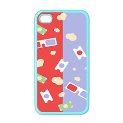 Glasses Red Blue Green Cloud Line Cart Apple Iphone 4 Case (color) by Mariart
