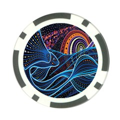 Fish Out Of Water Monster Space Rainbow Circle Polka Line Wave Chevron Star Poker Chip Card Guard by Mariart