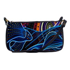 Fish Out Of Water Monster Space Rainbow Circle Polka Line Wave Chevron Star Shoulder Clutch Bags by Mariart