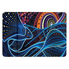 Fish Out Of Water Monster Space Rainbow Circle Polka Line Wave Chevron Star Samsung Galaxy Tab 8 9  P7300 Flip Case by Mariart