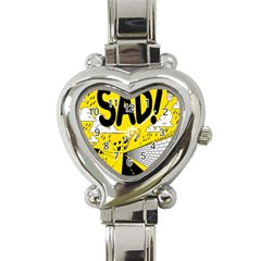 Have Meant  Tech Science Future Sad Yellow Street Heart Italian Charm Watch by Mariart