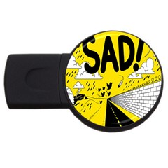 Have Meant  Tech Science Future Sad Yellow Street Usb Flash Drive Round (4 Gb) by Mariart