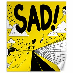 Have Meant  Tech Science Future Sad Yellow Street Canvas 8  X 10  by Mariart