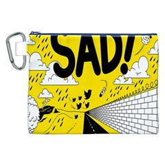 Have Meant  Tech Science Future Sad Yellow Street Canvas Cosmetic Bag (xxl) by Mariart