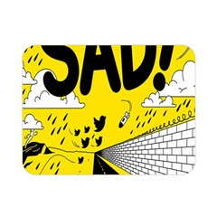 Have Meant  Tech Science Future Sad Yellow Street Double Sided Flano Blanket (mini)  by Mariart
