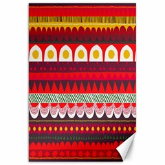 Fabric Aztec Red Line Polka Circle Wave Chevron Star Canvas 20  X 30   by Mariart